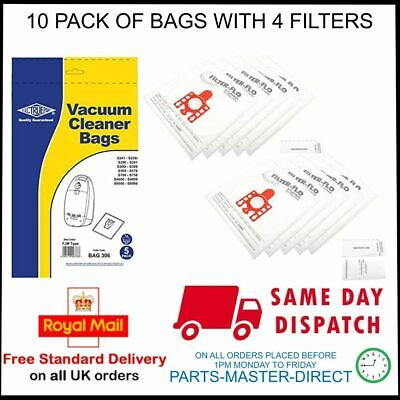 6 Vacuum Bags with 6 Micro Filters for Miele Solaris Turbo Plus S514