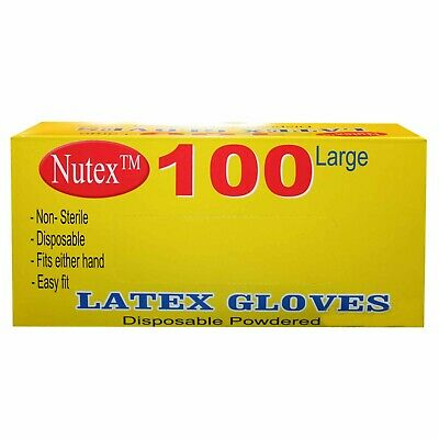 Disposable Stretch Powdered Latex Gloves for Food Handling & General Cleaning