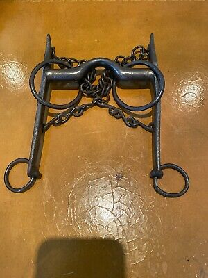 Antique Iron Horse Bit Harness Bridle Handforged 1700's-1800's EXC Cond