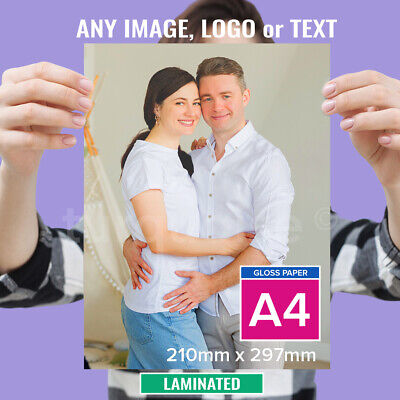 A3 Personalised Photo Print Laminated Picture Image Print Gift Poster Art 260gsm