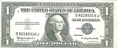 1935 H Silver Certificate Gem UNCIRCULATED Excellent Paper Quality
