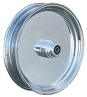 Ultima Solid Billet Polished Aluminum Rear Wheel 37-557 00-Later Rotor//Pulley 18 x 3.5