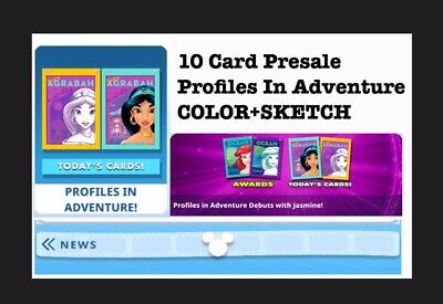 PRESALE: PROFILES IN ADVENTURES COLOR+SKETCH-2x 5 CARD SETS-TOPPS DISNEY COLLECT