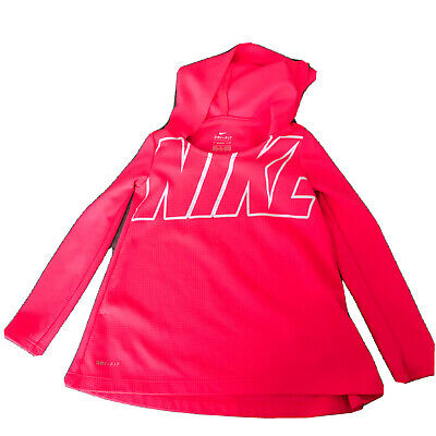 Nike Dri-Fit Dri Fit Neon Pink Kids Hooded Activewear Girls Top 4T 3-4 Years