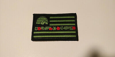 boogaloo big igloo big luau patch black and green patch with hook and loop