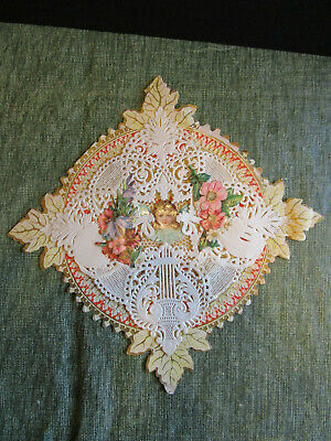 3 Antique Victorian Doily Valentine's Day Cards lot P30