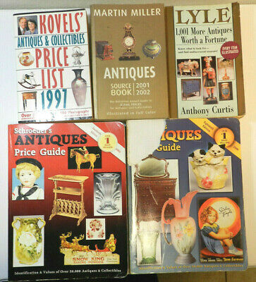 5 Book Lot ~ Collectibles Antiques Price Guides Kovel Lyle Miller ~ 1997-2003
