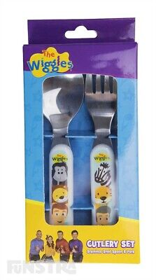 The Wiggles Cutlery Set Mealtime Set Kids Spoon Fork New