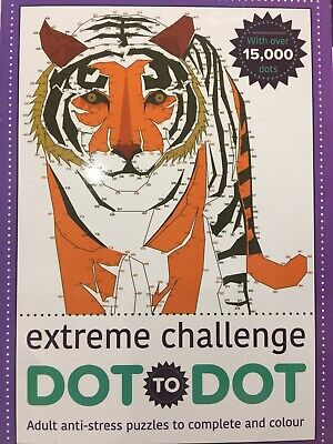 New - Dot-To-Dot - Colouring Book - 28 Puzzles And Answers - Extreme Challenge
