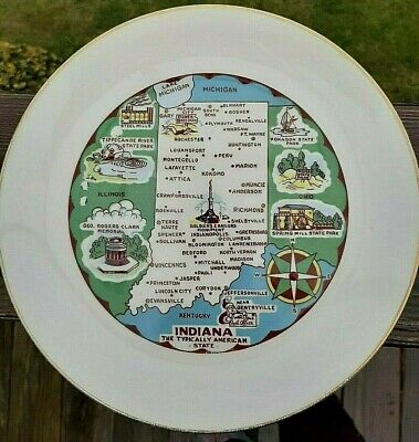 """Indiana State Collector Plate  ~ 9"""""""