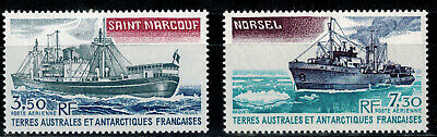 Timbres des TAAF PA N° YT 63 et 64  neufs **