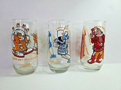 Burger King 1979 Character Collector Series 16 Oz. Cups Lot Of 3 Collectors Cups