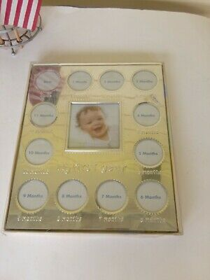 My First Year - DISNEY brand, Metal First Year silver colored Photo Frame
