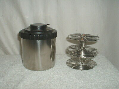 Stainless Kindermann Developing Tank & 2 35mm Reels Made in Germany