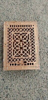 Burrow Stewart & Milne Ornate Cast Iron Floor Vent Grate Register w/Louvers *K