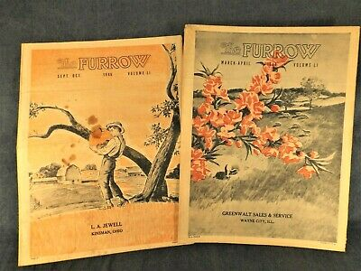 THE FURROW MAGAZINES - 2 from 1946 from JOHN DEERE DEALERS - HISTORIC!