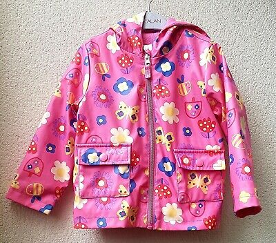 Girls Clothes Age 2-3 Yrs Nutmeg Pink Flower Print Hooded Winter Raincoat/Jacket