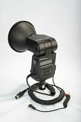Quantum Qflash T5DR In Excellent Cond. W/ PC sync. cord, & Light Stand Adapter
