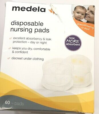 NEW W DEFECT Disposable Nursing Pads 60 Count Absorbent