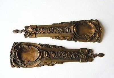 ⚡ Pair Of  ORNATE ANTIQUE FRENCH FURNITURE ORNAMENTS ~1800s FRANCE