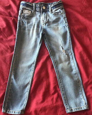 Boys Mango Stonewash Ripped Denim Jeans Age 4-5 Years Skinny Fit