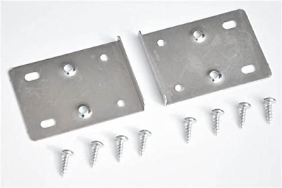 Cream White x4 2 Sets Kitchen Cupboard Door Hinge Repair KIT Includes Plates and Fixing Screws