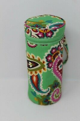 Vera Bradley TUTTI FRUTTI Insulated Baby Bottle Caddy Holder Green Paisley