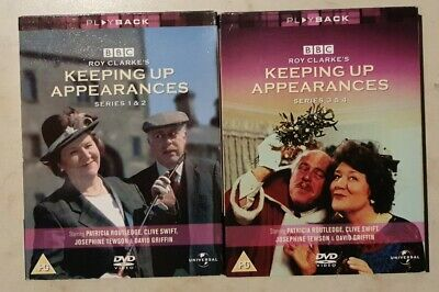 KEEPING UP APPEARANCES DVD Box Sets - Series 1/2/3 & 4 watched only once VGC