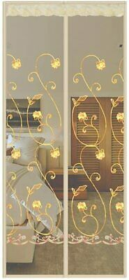 Magnetic Screen Door Anti Fly Mosquito Insect Mesh Embroidery Curtain with Magne