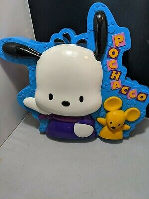Vintage Sanrio Pochacco Plastic Pencil Case School Box FUN 1999 display