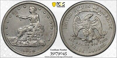 1878-S Silver Trade Dollar PCGS XF Details Cleaned