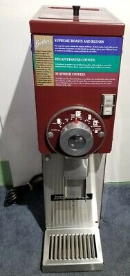 Grindmaster 875 Red 1/2 H.P. Commercial Coffee Grinder Brother's Gourmet Coffee