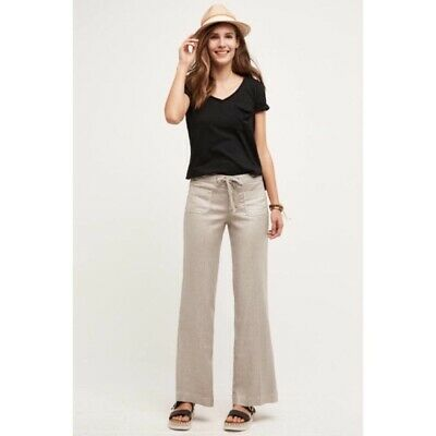 Level 99 Linen Wide-Legs Pants Various Color Sz 26 30 NW ANTHROPOLOGIE Tag 27