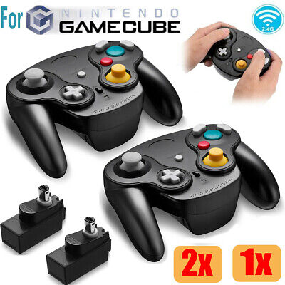 Wireless Gamecube Controller Wavebird Style w/ Adapter For Nintendo NGC GC Black