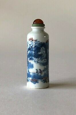 Blue and White Porcelain Snuff bottle