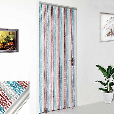 Colorful 214x90CM Aluminum Curtain Metal Chain Insect Blinds Screen Pest Control