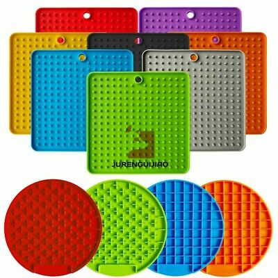 Pet Slow Feeding Food Bowl Silicone Licking Pad Feeder Mat For Dog Cat Puppy