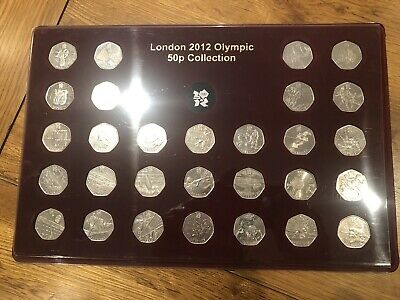 VERY RARE  - 1 x OLYMPIC 50P COINS CUSTOM MADE COMPLETER MEDAL - FILLS THE GAP
