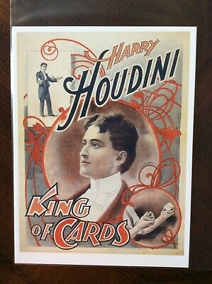 Harry Houdini magician poster #8 1894 Exchanging Places in Three Seconds
