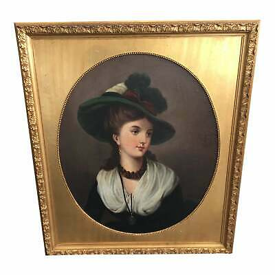Large Antique Fine 19th Century Portrait of a Lady