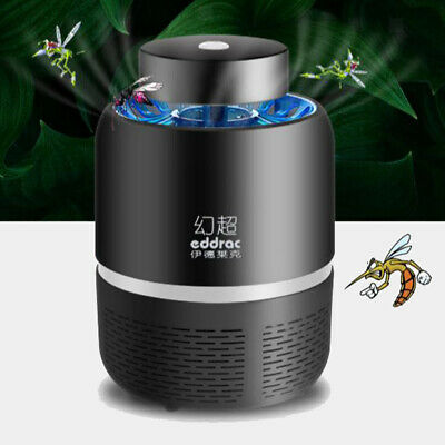Mosquitoes Suction Killer LED Light Outdoors Indoors Trap Household Black
