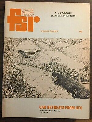 FLYING SAUCER REVIEW FSR VOL 21 No. 5 1976  CAR RETREATS FROM UFO