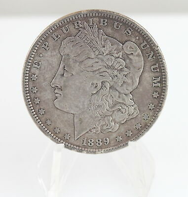 1889 Morgan Silver Dollar $1 US Fine .900 VF-XF Philadelphia Collect Invest Nice