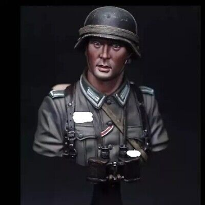 1//10 Bust DAK Panzer Officer  Military Figure Series  Unpainted Resin Model Kit