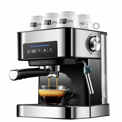 Coffee Maker Express Espresso Machine Latte Cappuccino Stainless Steel 220V