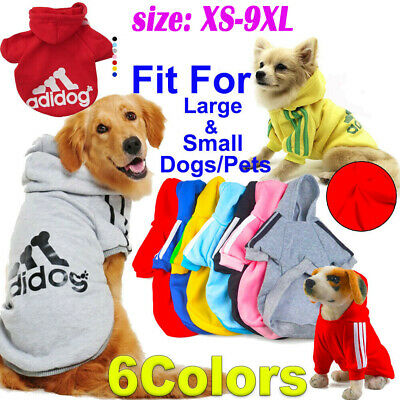 Adidog Pet Small Dog Warm Hoodie Jacket Coat Puppy Cat Casual Clothes Costume
