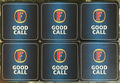 FOSTER/'S LAGER BEER MATS x6 COASTERS 6 x DIFFERENT DESIGNS NEW