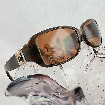 Womens Tommy Bahama Palm Tree Bejeweled RX Sunglasses Havana Horn TB102SA