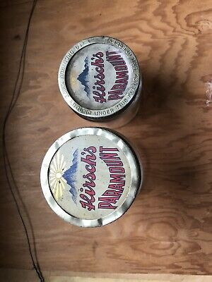 2 different Hirsch's Paramount Lid's with jars. NICE