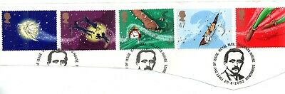 GB  QEII 2002 Great Ormond St. Hospital - Peter Pan sg 2304 - 2308  VFU ON PAPER